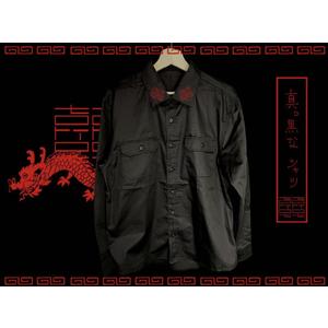 中華ロゴ刺繍シャツ